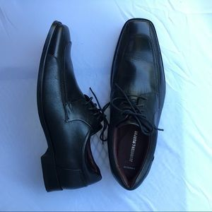 Genuine leather men's dress shoes black  11.5